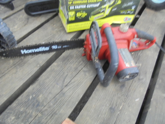 """Homelite 16"""" Electric Chainsaw"""