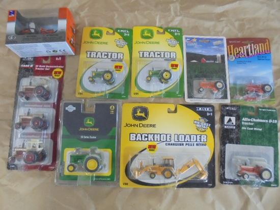(11) 1/64 Toy Tractors NIB