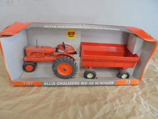 Allis Chalmers WD45 w/ Wagon, ERTL 1/16
