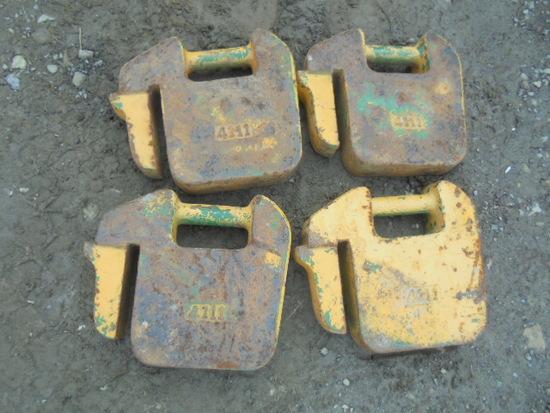 John Deere 40LB Suitcase Weights x4