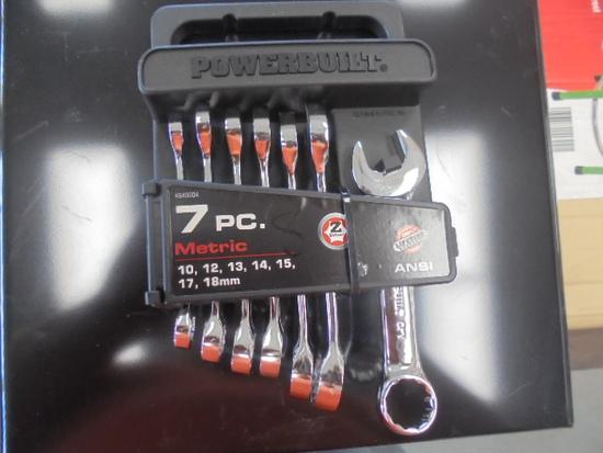 Powerbuilt 7PC Metric Wrench Set 10mm-18mm