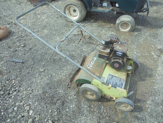 Ryan Retrothin Power Rake, Briggs & Stratton 5hp Engine
