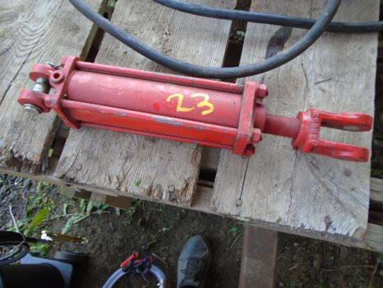 Red Hydraulic Cylinder