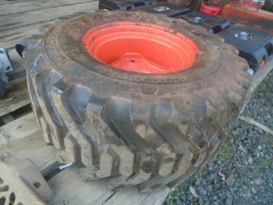 Kubota BX 26.12-12 R4 Rear Tire & Rim, Loaded