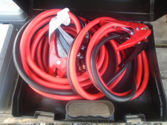 New 25' 1 Guage Heavy Duty Jumper Cables