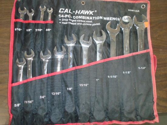Calhawk 14 pc SAE Wrench Set