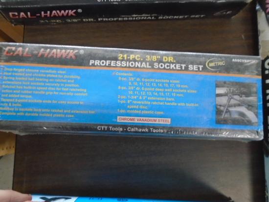 "New Calhawk 21 pc 3/8"" Socket Set"