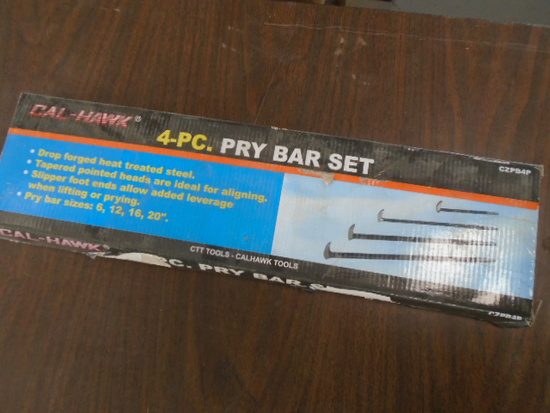 New Calhawk 4 pc Pry Bar Set