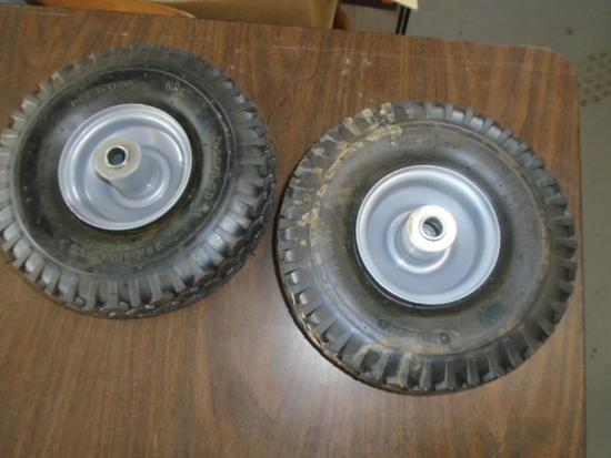 (2) 4.10/3.50-4 Tires & Rims