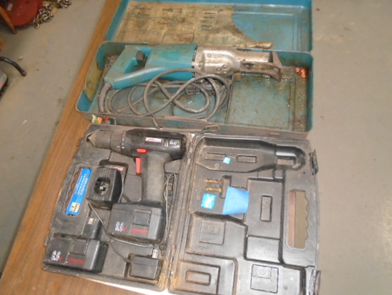 Craftsman Cordless Drill & Makita Sawzall, Condition Unknown AS-IS