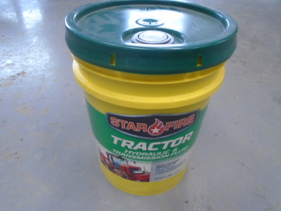 5 Gallon Pail Of New Tractor Hydraulic & Transmission Fluid