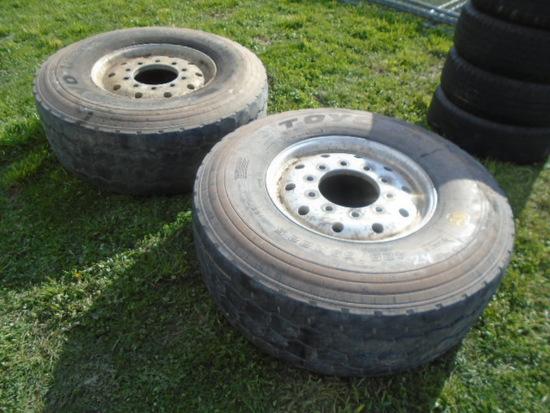 Toyo 425-65R22.5 Tires On Alluminum Rims