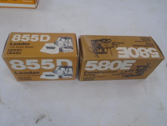 Case 855D & Case 580E Toys NIB, 1/35th Scale