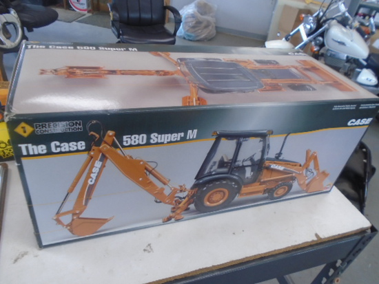 Case 580 Super M Backhoe 1/16 Scale #1 Ertl Precision, NIB, Hard To Find!