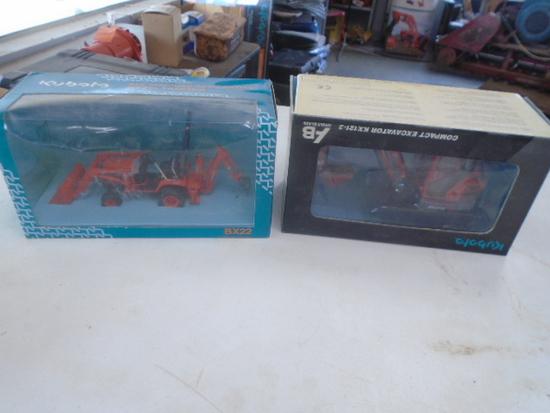 (2) Kubota BX22 & KX121-3 Toys