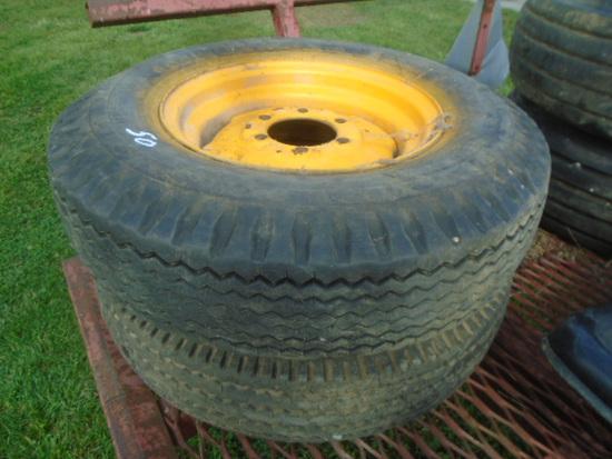 (2) 7.50/16 Tires & Rims
