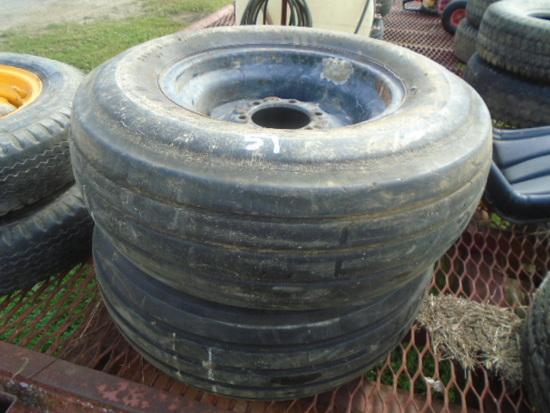 (2) 11L-16 Tires & Rims