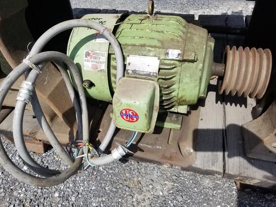 US motors 15 HP electric motor 3 phase
