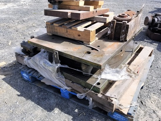 Skid of plate pieces