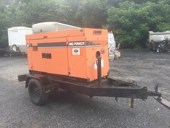 MQ power generator on trailer