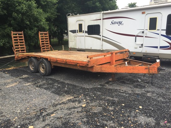18' Tandem Axle equipment trailer