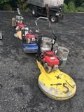 Lot of 3 propane floor buffers