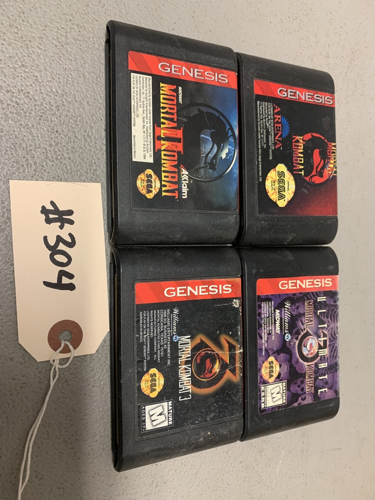 Mortal Kombat 1,2, 3, & Ultimate  (Sega Genesis)