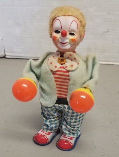 Vintage Wind-Up Musical Clown