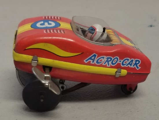 Vintage Yone Acro-Car Tin Wind-Up Toy