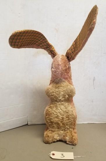 Early Steiff Straw Stuffed Rabbit Toy