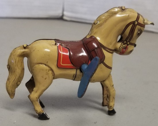 Vintage Tin Wind-Up Horse