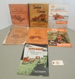 7 Assorted Vintage Allis Chalmers Owner's Manuals