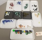 Large Assortment of Vintage Glass Marbles
