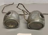 Pair of Vintage Car Headlights