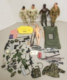 (4) Gi Figures & Assortment of Gi Joe Accessories