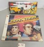 Vintage Star Trek Game & Battery Laser Gun