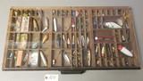 Large Vintage Fishing Lure Display