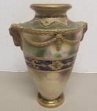Large Early Nippon Hand Painted Vase