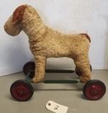 Early Steiff Straw Stuffed Ride-On Dog Toy