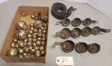 Large Assortment of Brass Sleigh Bells