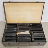 Early Glass Picture Slides in Metal Case