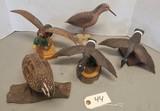 Assorted Waterfowl & Shore Bird Decoys