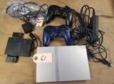 Playstation 2 Slim Silver W/ 28 Games