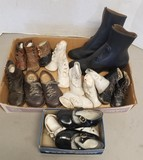 Large Assortment of Vintage Children's Shoes