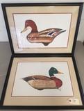(2) Signed Mallard Drake & Hen Prints