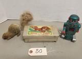 (2) Vintage Tin Wind Up Toys