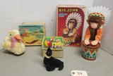(2) Vintage Battery Operated Toys & (1) Wind Up
