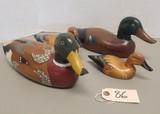 (4) Unmarked Wooden Duck Decals