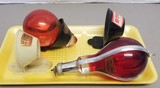 (2) Vintage Glass Red Comet Fire Extinguishers
