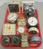 (13) Assorted Vintage Alarm Clocks